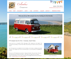 VW Camper Van Website Design